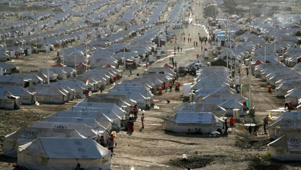 szír menekültábor