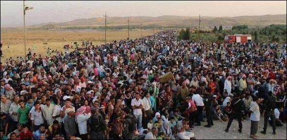 qaraqoshi 50000 keresztény menekült