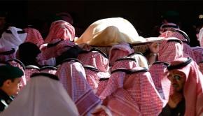 szaúdi király temetése