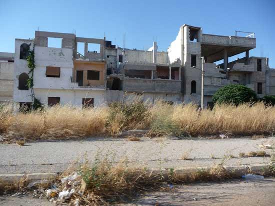 Homsz egyes részeit teljesen szétlőtték CSI