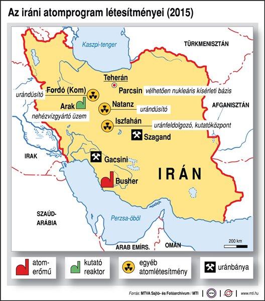 Az iráni atomprogram létesítményei