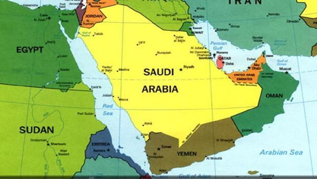 közel kelet map térkép