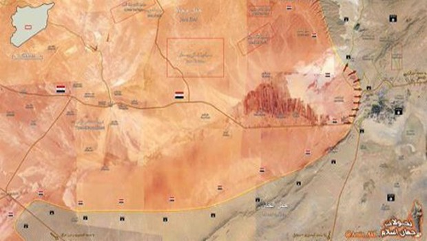 palmyra térkép map