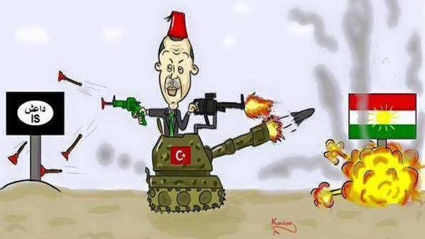 erdogan vs kurd vs isis