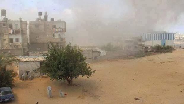 gáza robbantás