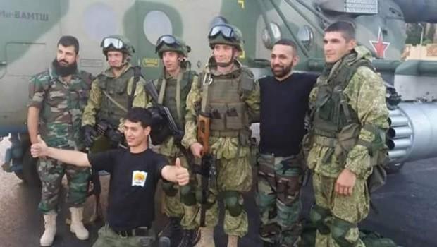 orosz és szír katonák