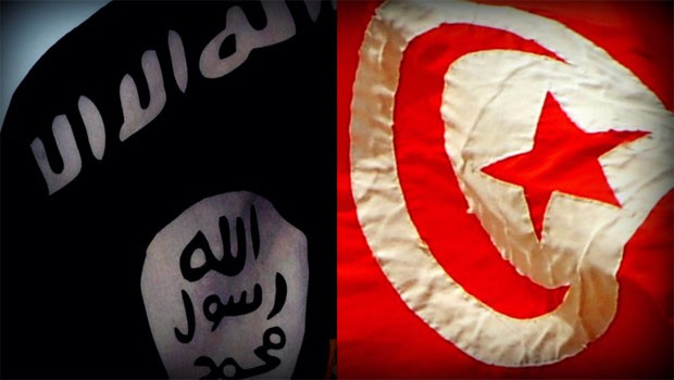 tunézia isis flag