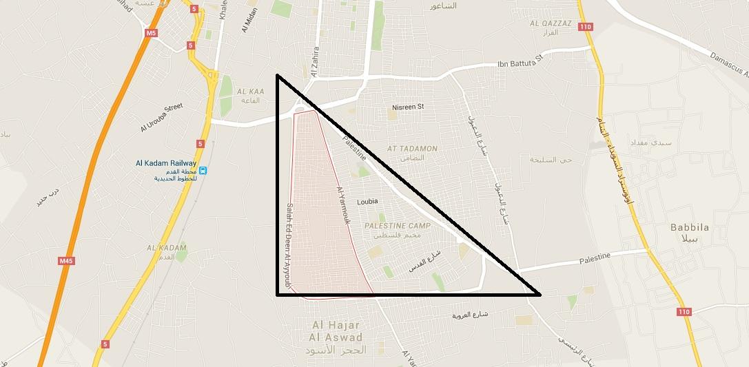 palesztin háromszög