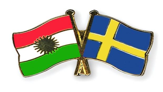 svéd kurd flag