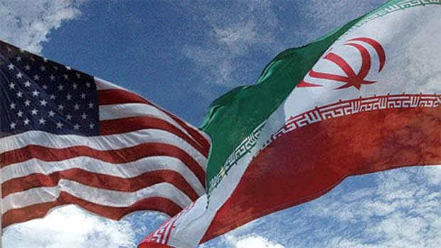 usa iran flag