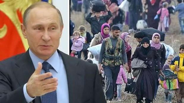 putyin menekültek