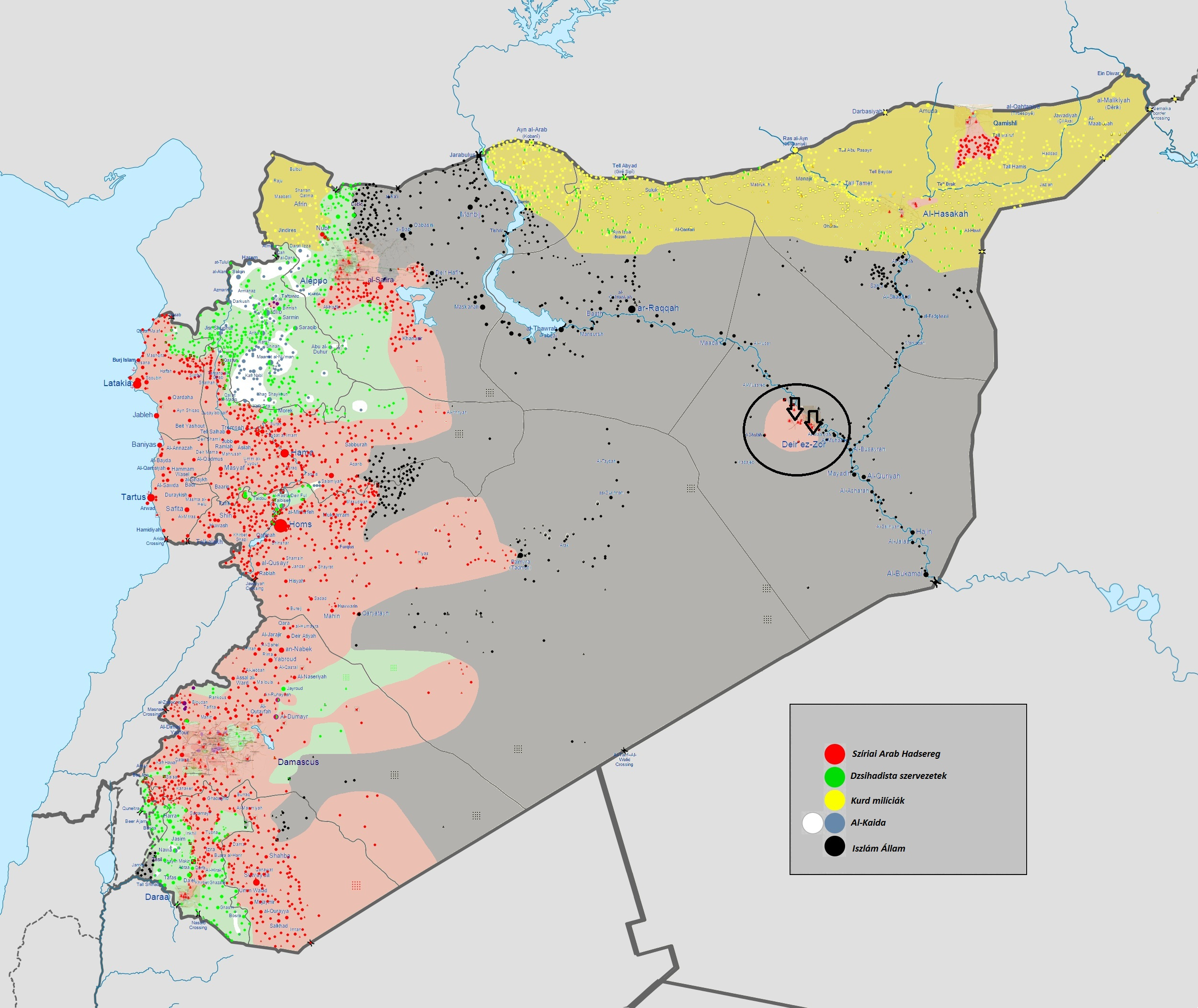 syria war maps