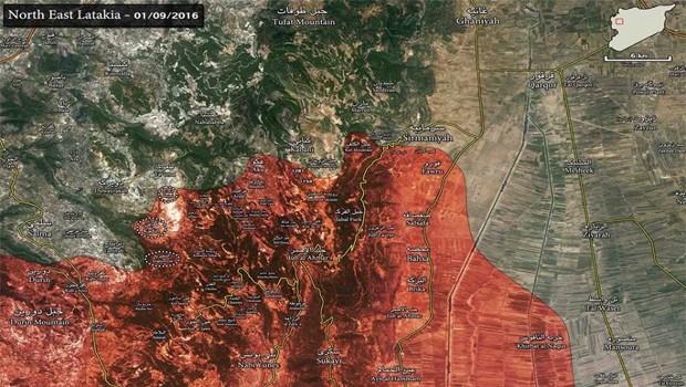 északkelet lattakia térkép 2016.01