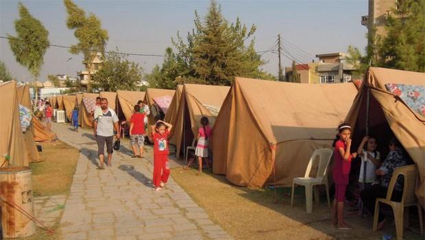 iraki menekülttábor Irbil
