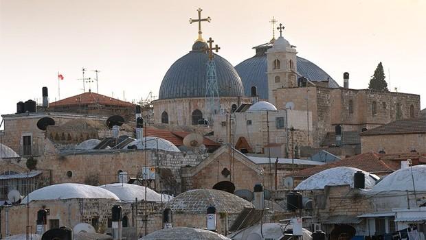 keresztény negyed Jeruzsálem