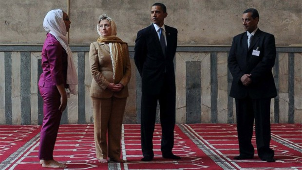 obama mecsetben