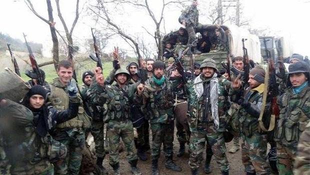 szíriai katonák lattakiában