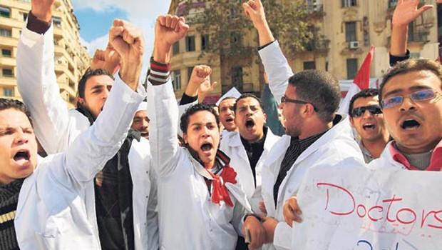 egyiptomi orvos tüntetés