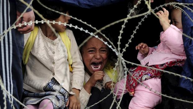 gyerek menekültek