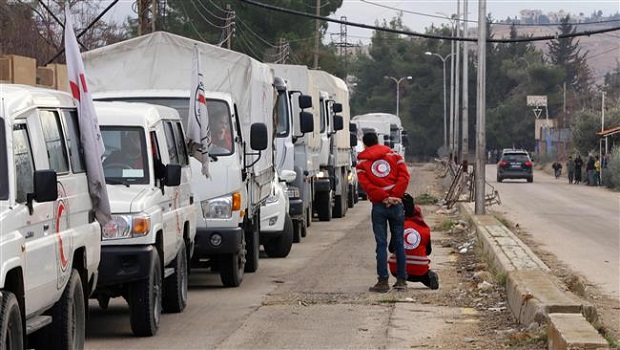 red cross convoy