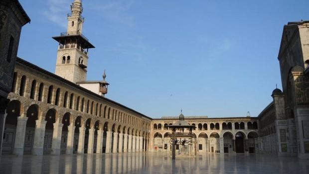 A damaszkuszi Omajjád-mecset udvara