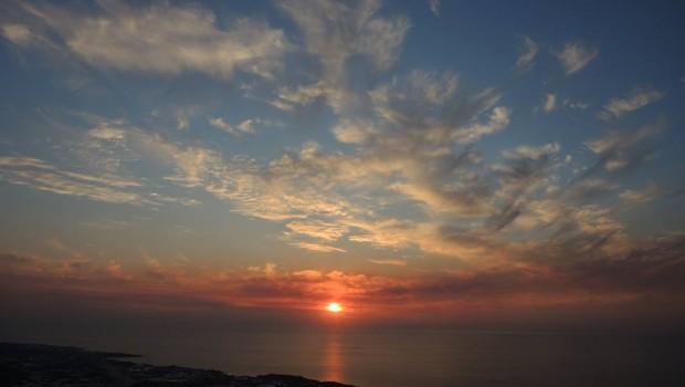 Naplemente a margati öböl felett