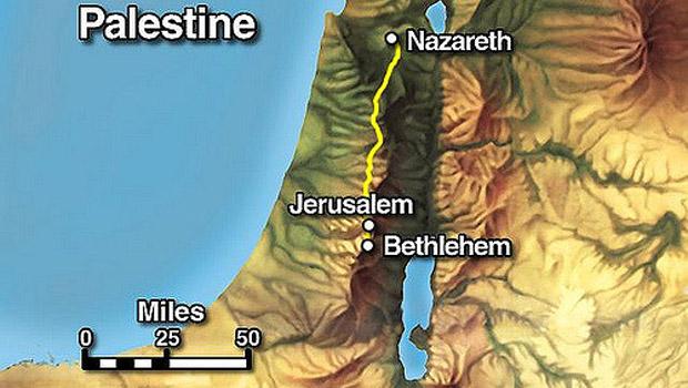betlehem térkép