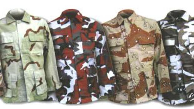 katonai ruházat