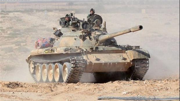 syria army palmyra tank