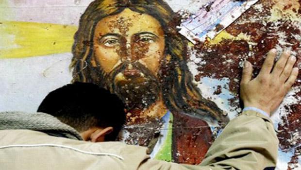 szír keresztény Jézus kép