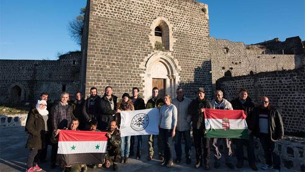 szír-magyar régész csapat