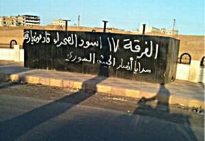 """""""Raqqa! A sivatag oroszlánjainak 17-es csapata már úton van."""""""