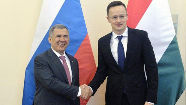 Rusztam Minnyihanov és Szijjártó Péter  MTI