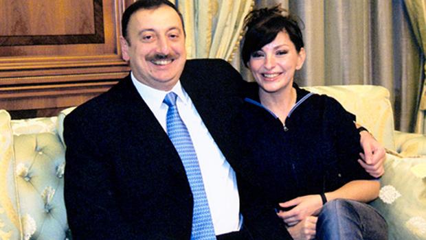 azeri elnök és felesége
