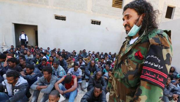 líbiaia migránsbörtön