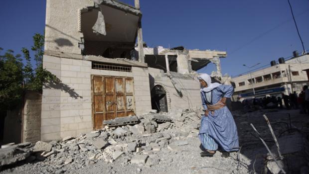 palesztin ház ferobbantás után
