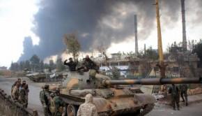 syria army tank aleppo