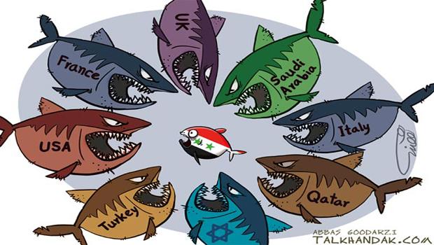 syria war karikatúra