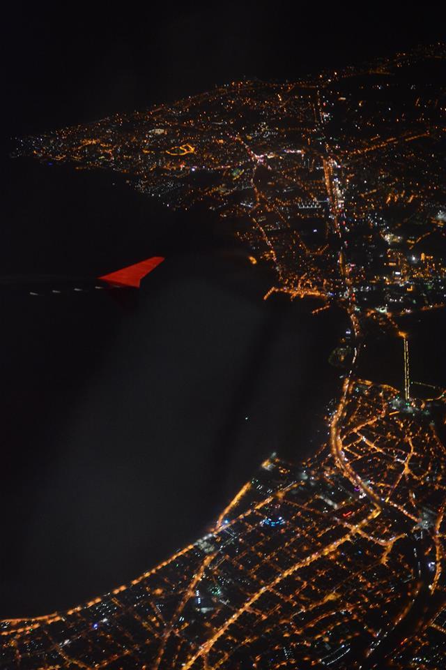 Konstantinápoly fényei a repülőről