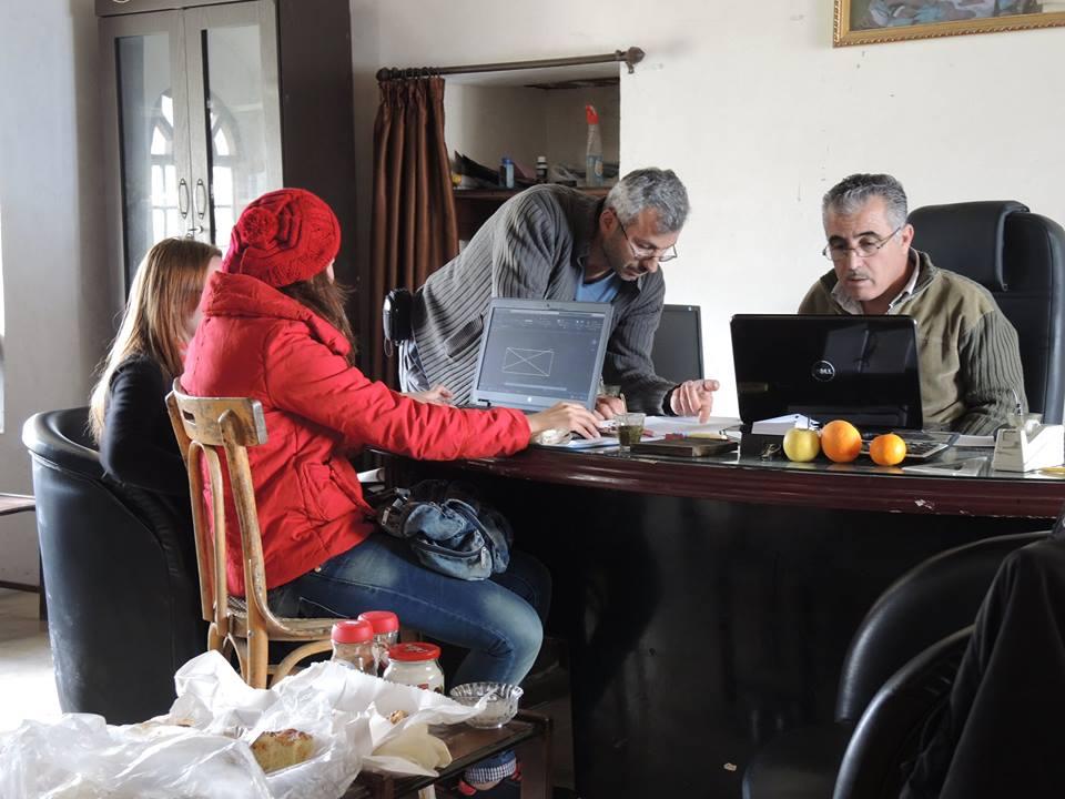 A geodéziai eredmények beszerkesztése az irodában