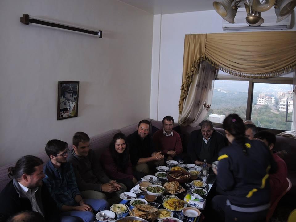Baráti vacsorán szafitai kolleginánk családjánál
