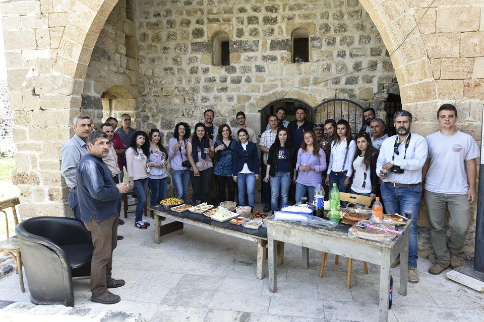 Szíriai kollegáink búcsúbulit rendeztek nekünk az utolsó előtti nap