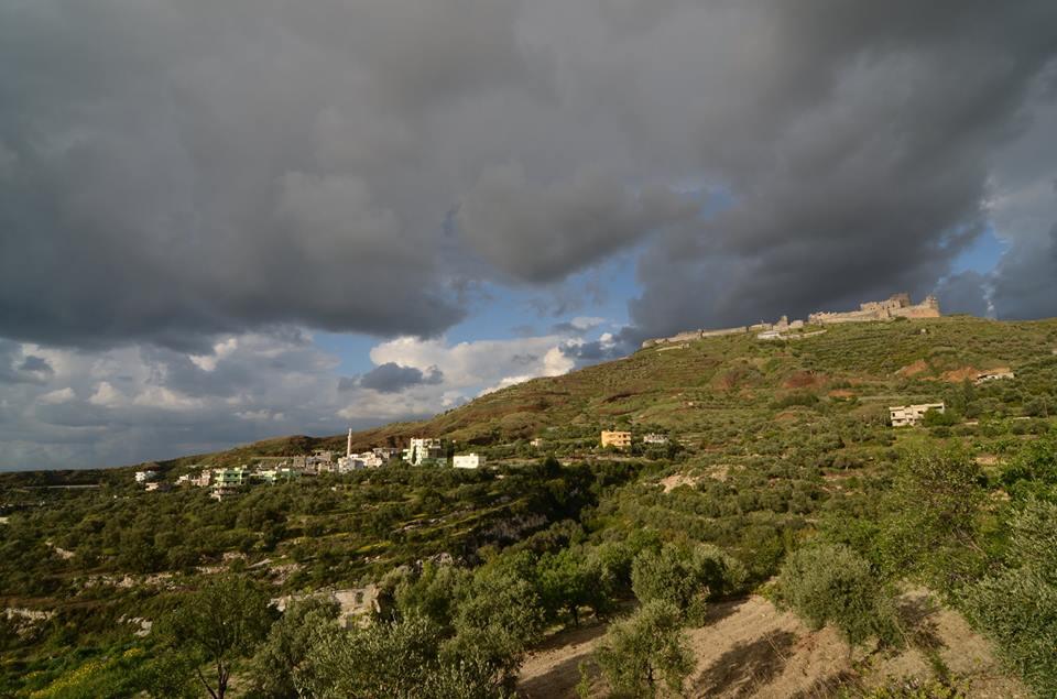 Felhős naplemente Margatban