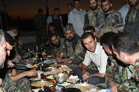 assad szír katonákkal