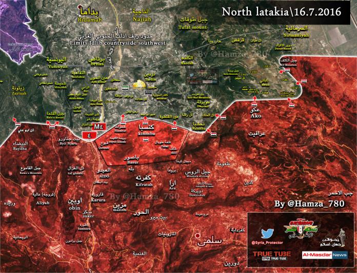 Kinszibba szíria térkép