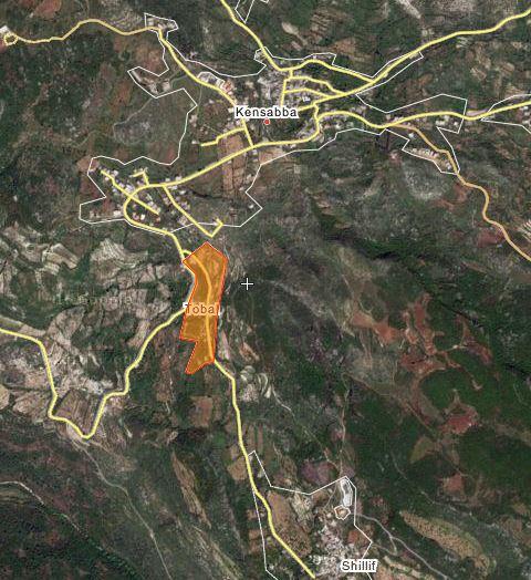 Qalat Tubal szíria térkép