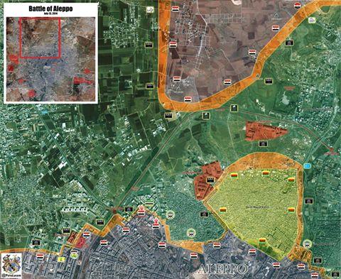 aleppo térkép ostromgyűrű