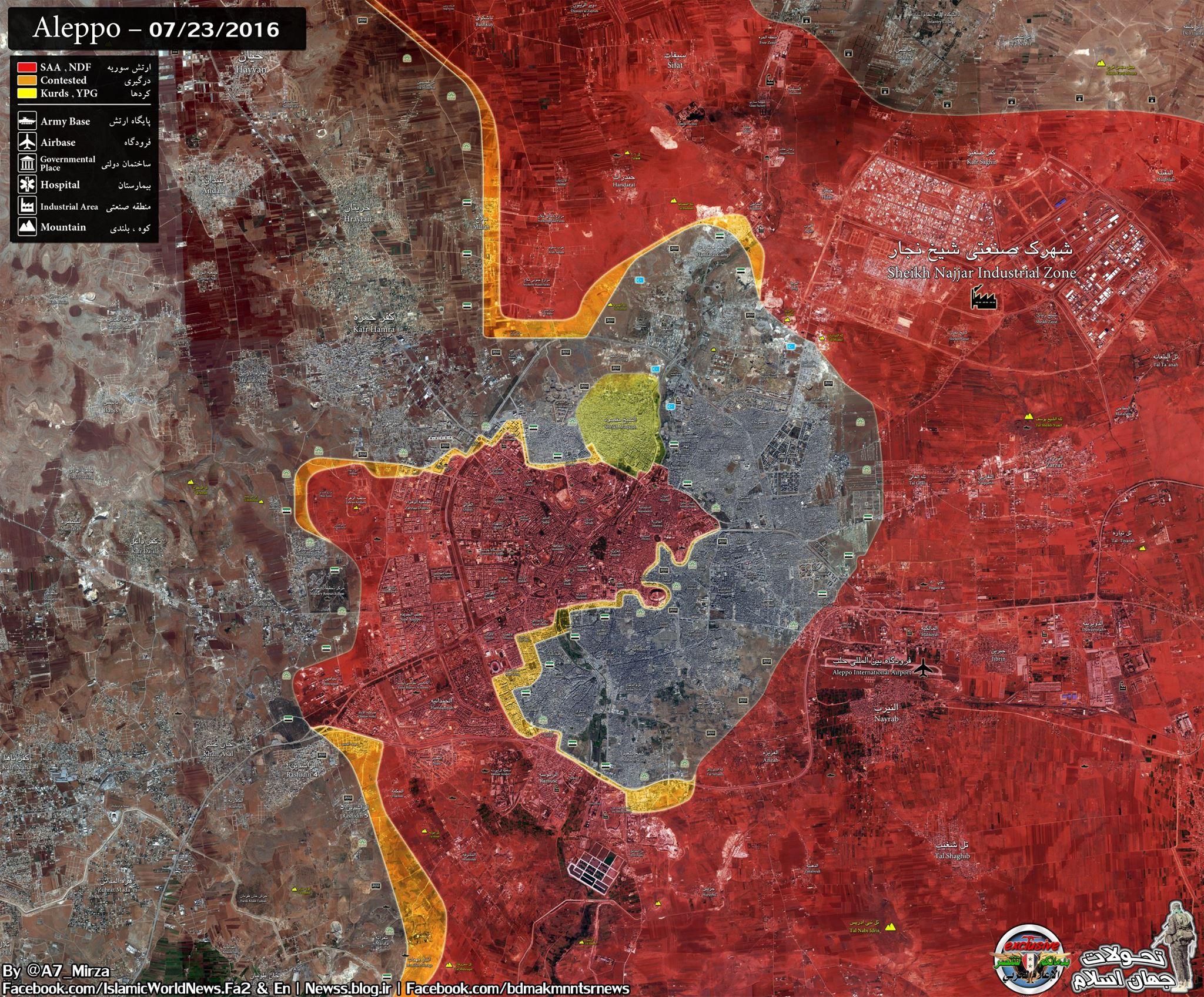 aleppo térkép