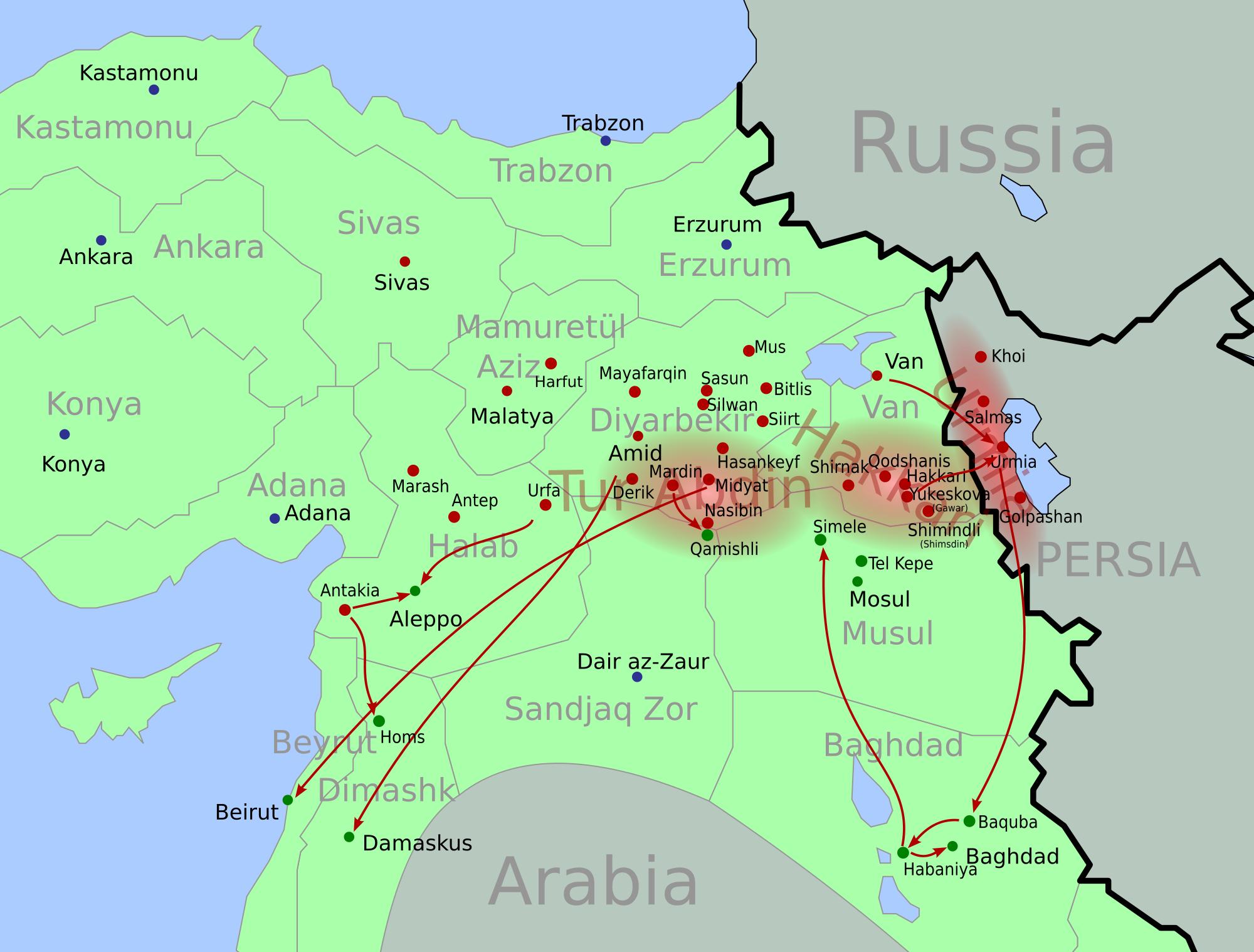 asszír népírtás