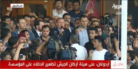 Erdogan a hivei között Isztambulban